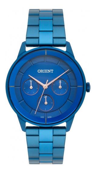 Relógio Feminino Azul Orient Data Multifunção Prova D