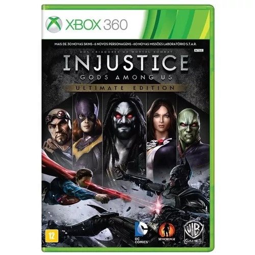 Novo - 1 Vendido Injustice Gods Among Us Ultim Xbox 360 Or