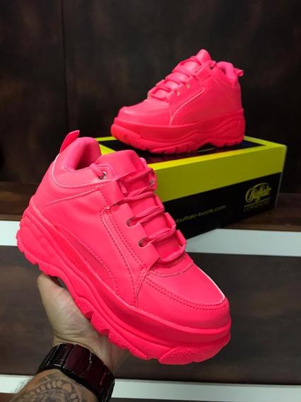 Tênis Sneaker Buffalo Feminino Vicerinne Plataforma Branco