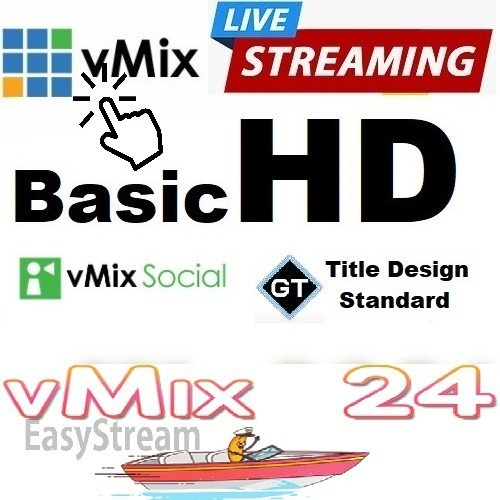 Vmix Basichd 1920x1080 Full Hd Chroma Key E 3 Redes Sociais