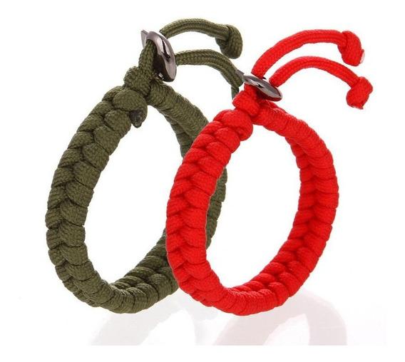 Pulsera Cuerda De Supervivencia Bracelete Pareja Novios