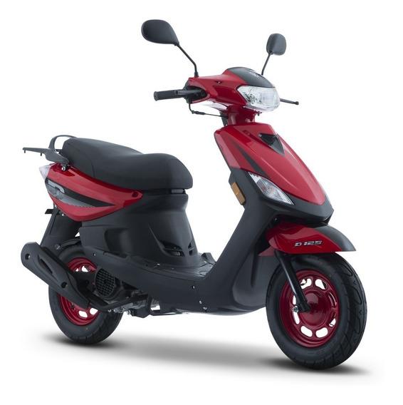 Moto Italika D 125 Negro Rojo