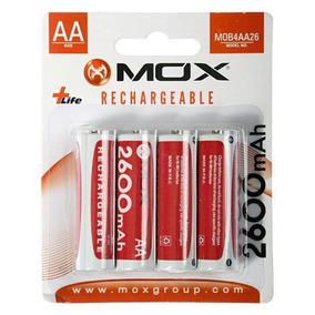 4 Pilhas Recarregável Mox A A 2600 Mah Pilha Média Bateria