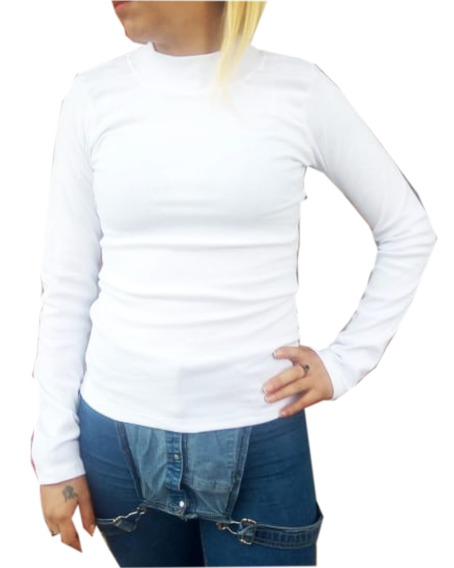 Camisetas Media Polera X 6 100% Algodón Adaptables Gruesas