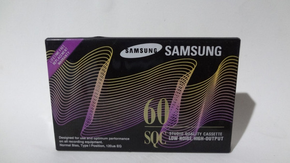 Fita Cassete _ K 7 _ Samsung _ Sqc 60 _ Lacrada