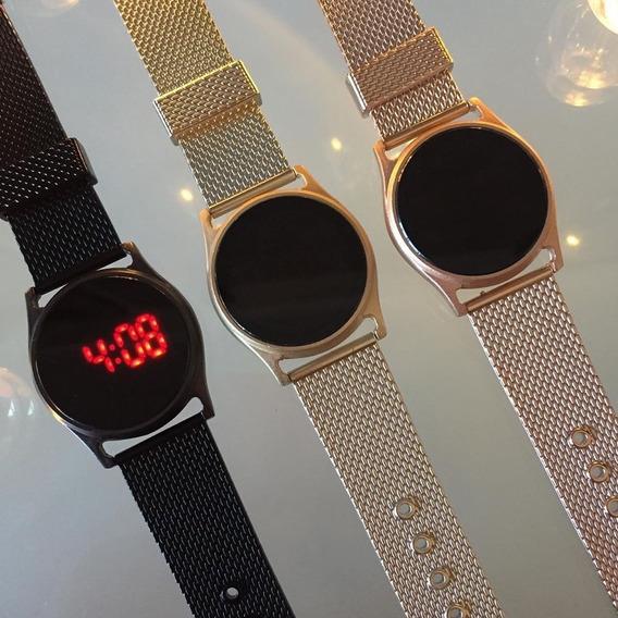 Relógio Led Touch Redondo