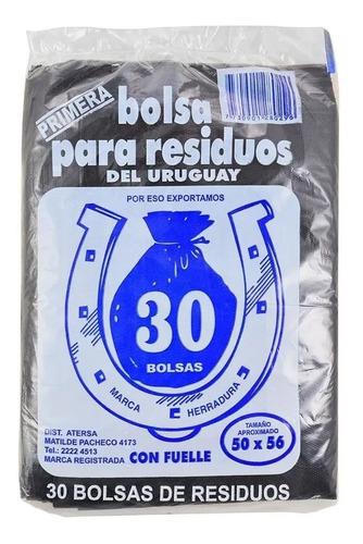 30 Bolsas Residuo Basura 50 X 56 Calidad Premium - Otec