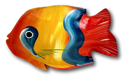 Gamela/travessa De Madeira Peixe Decoração Ref.0630
