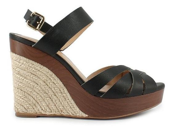 Remate Zapatos Sandalias Negro 24.5 Wedge Westies Nine West