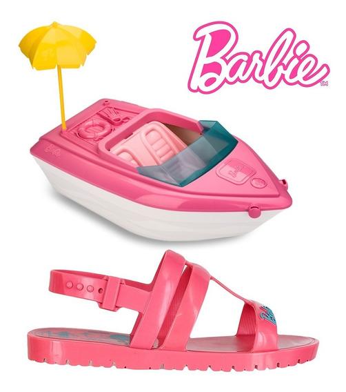Sandália Infantil Feminina Menina Barbie Barco 22002