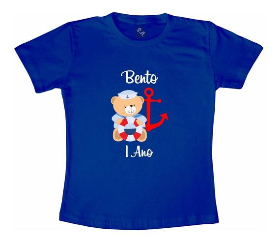 Camiseta Urso Marinheiro Azul Marinho