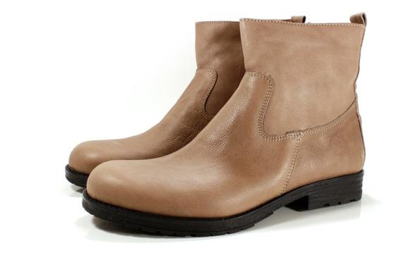 Zapatos Botas Botin Cuero Vizon Diseño Helga By Ghilardi