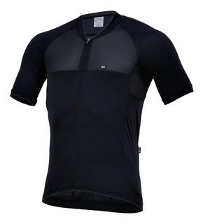Camisa Ciclismo Masculina Marcio May Elite Preta Tam M