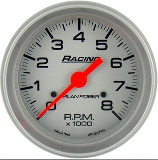 Tacometro Orlan Rober Racing 80mm Naftero 8mil Rpm 12v