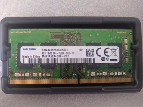Imagem 1 de 1 de Memória Ram Ddr4 4gb Samsung