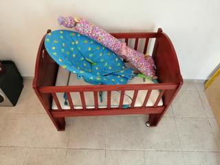 Cuna De Madera Y Silla Para Bebes