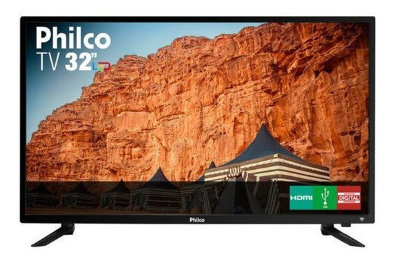 Tv Led 32 Philco Ptv32c30d Hd Com Conversor Digital 2 Hdmi 1 Usb 60hz - Preta