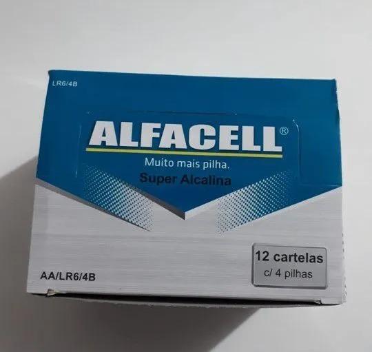 Pilha Aa Pequena Alcalina Caixa C/ 48un. Alfacell Revenda