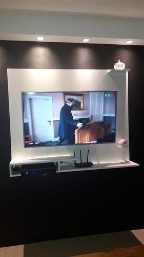 Imagen 1 de 4 de Panel Rack Hasta 43 Mas Soporte Fijo Slim! Tv Smart Lcd
