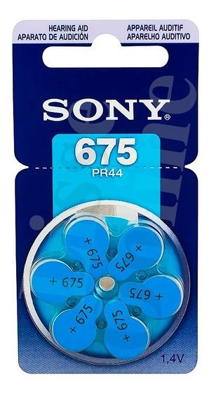 Bateria Auditiva 675 Cartela Com 6 Pr44 Original Sony