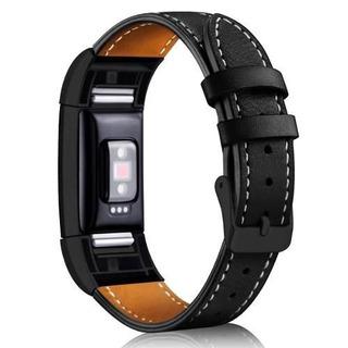 Pulseira Classic Fitbit Charge 2 Couro Preto Black Edition