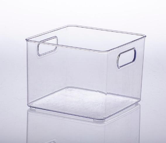 2x Cesto Organizador Transparente 20x20x15 Geladeira 900