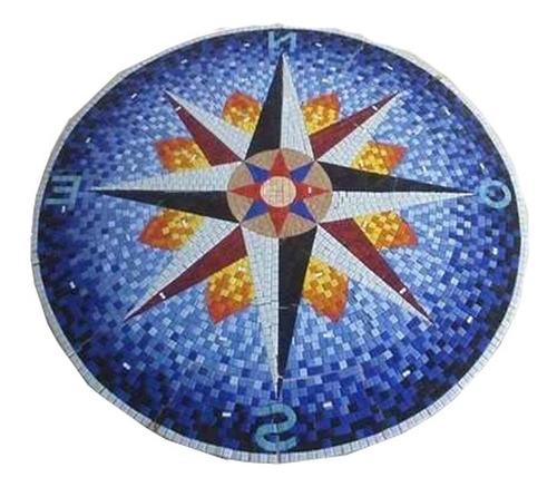 Imagen 1 de 9 de Mosaico Figura Rosa De Los Vientos P.alberc De 1.00 Mt.