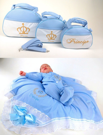 Bolsas De Bebe Kit Completo + Saida Maternidade Total 5pçs