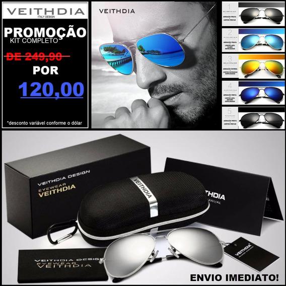 Oculos De Sol Aviator Original Masculino Feminino Promoção