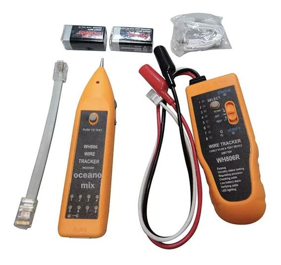 Kit Localizador De Cabos Zumbidor + Testador Rj45 Wh806r Top