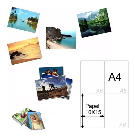 200 Papel Foto Glossy Neutro A6 Aprox 10x15 Cm 265 G Oferta