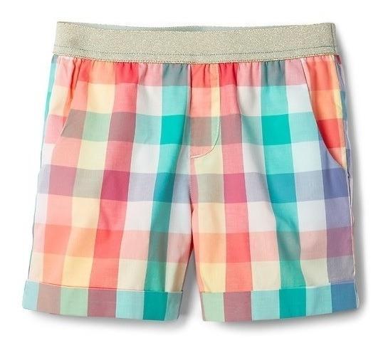 Short Nena Gap Kids Cuadrille Cintura Dorada Talle 12-14