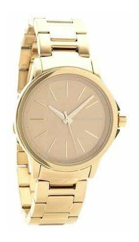 Relógio Armani Exchange Dourado Ax4351 Original Na Caixa.