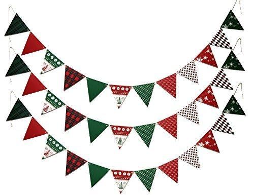 Smylls Feliz Navidad Banner Banderín Banderines De Papel Pa