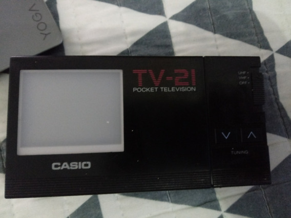 Mini_tv-21 Casio Antiga_colecionador! Ligando,