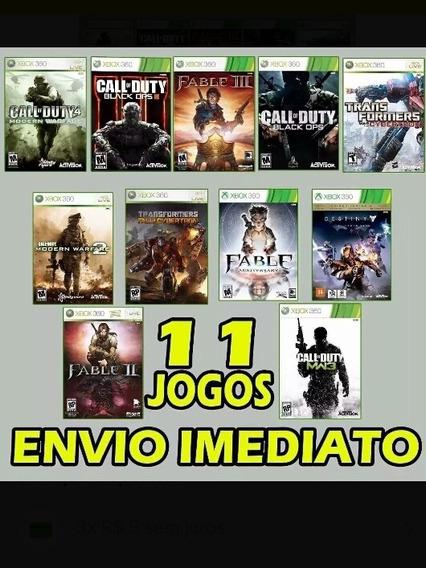 Combo 11 Jogos Mídia Digital Xbox 360