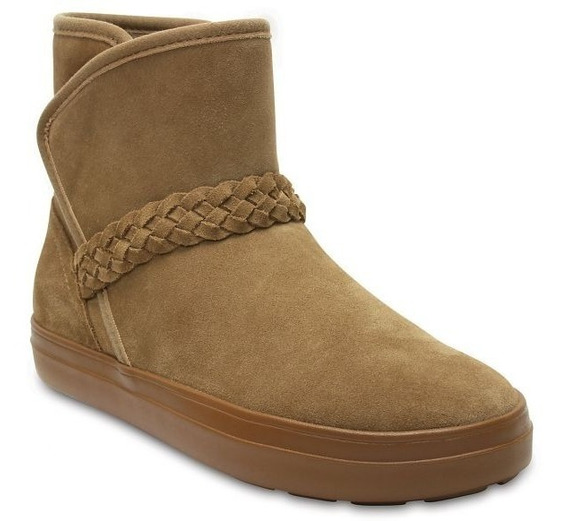 Bota Mujer Crocs Lodgepoint Suede Bootie W Hazenult