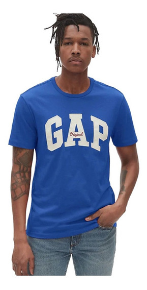 Playera Hombre Manga Corta Logo Frontal Estampado Gap