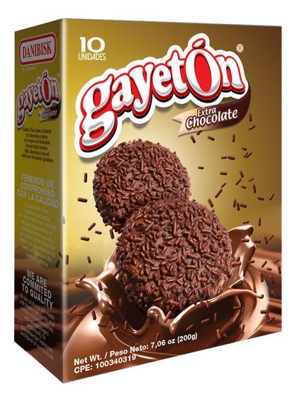 Caja 200g Galletas Gayetón Extra De Chocolate Por Bulto