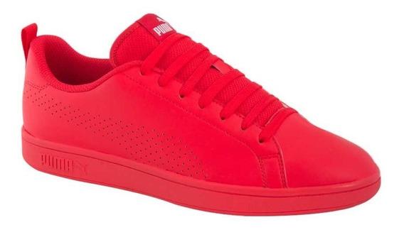 Tenis Casual Puma Smash Ace Rojo Hombre 185978 Oferta Nuevos