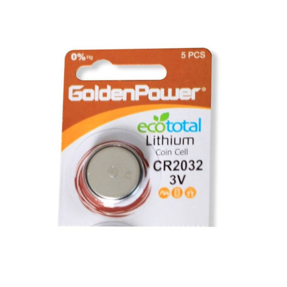 Bateria Tipo Botão 3v Golden Power Cr2032 Lithium C/10