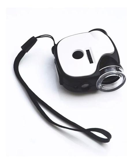 Microscopio Para Celular Camera 55x Universal Com Led E Uv