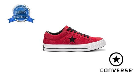 Zapatillas Converse Gamuza Rojo 163246c