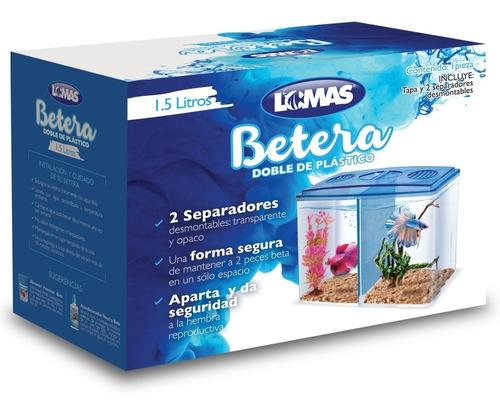 Imagen 1 de 1 de Bettera Doble 1.5 Lts Acuario Peces Betta