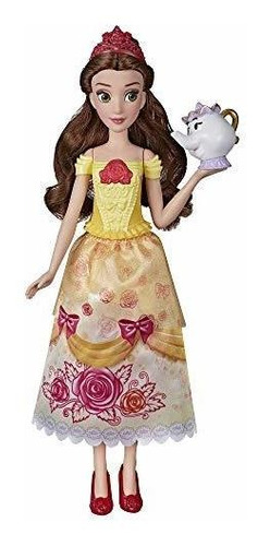 Imagen 1 de 7 de Princesa De Disney Brillante Cancion Belle, Muñeca De Moda M
