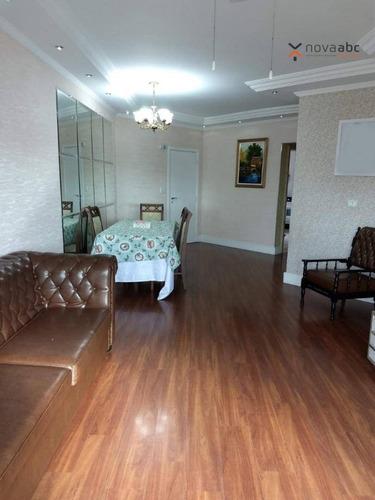 Apartamento Com 3 Dormitórios À Venda, 133 M² Por R$ 743.800 - Vila Assunção - Santo André/sp - Ap0800