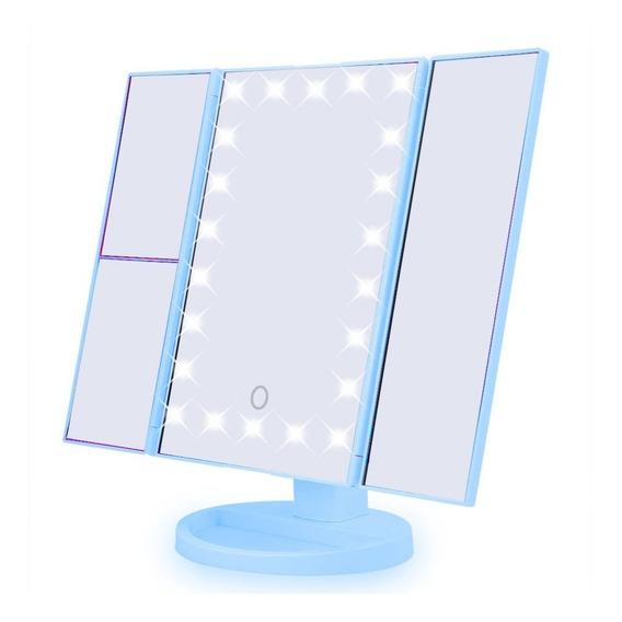 Espelho Camarim 22 Leds Para Maquiagem Portátil Rotação