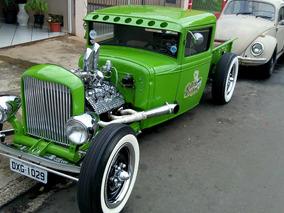 Ford 1929 Hot Rod Com Motor Flete Red Documento 1929