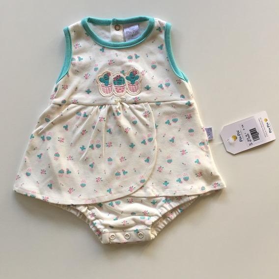 Vestido Para Bebês Algodão Suedine Tamanho P