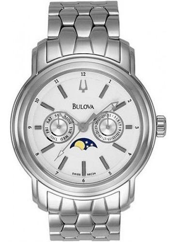 Relógio Bulova 96c34 Com Fases Da Lua - Original Na Caixa